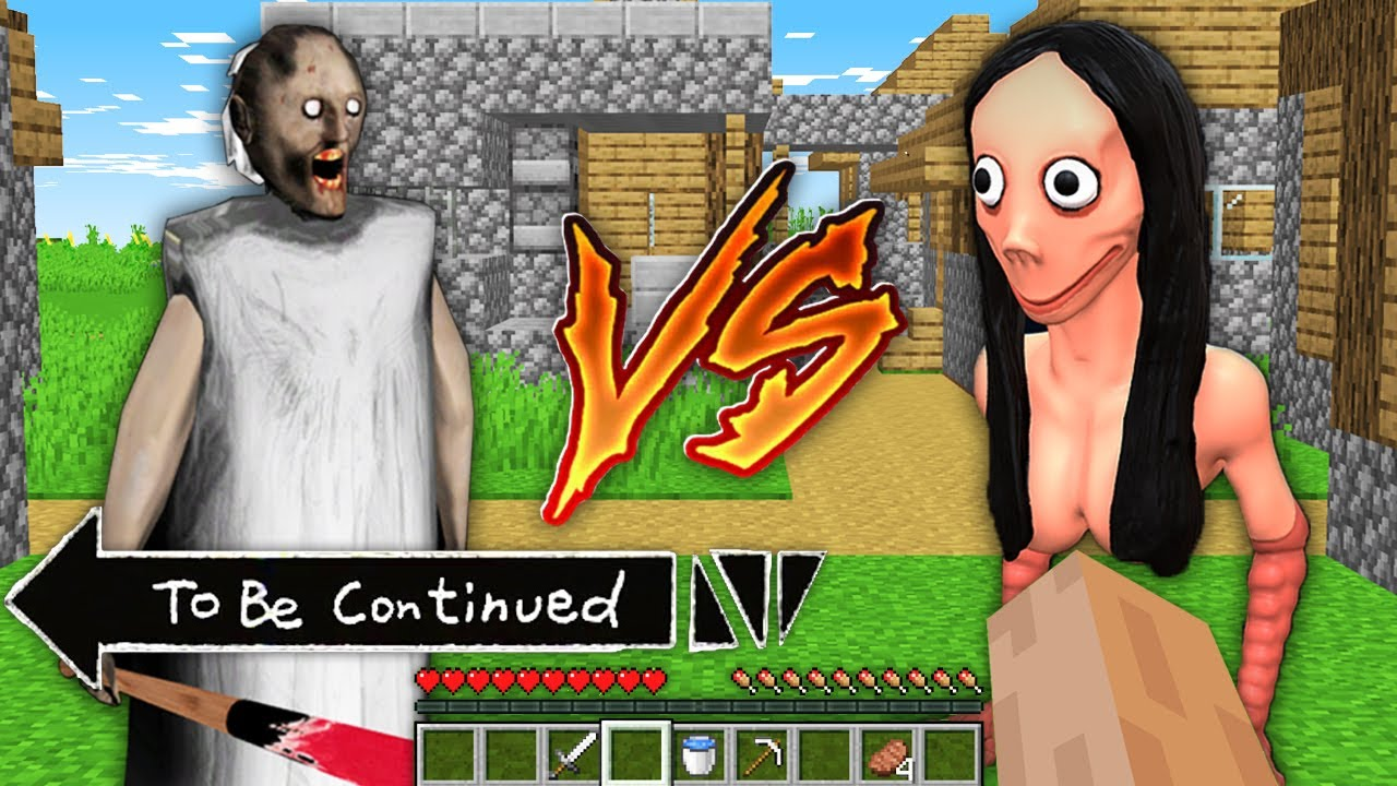 Who is stronger ? Granny vs Momo in Minecraft By Pickle Craft