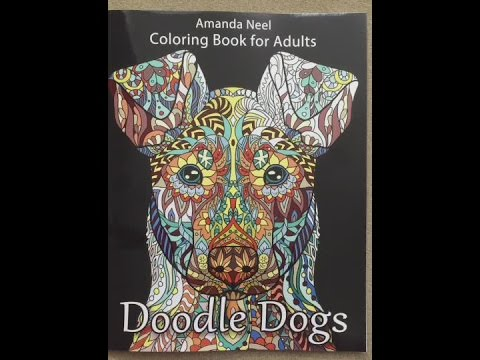 Doodle Dogs Coloring Book For Adults Flip Through