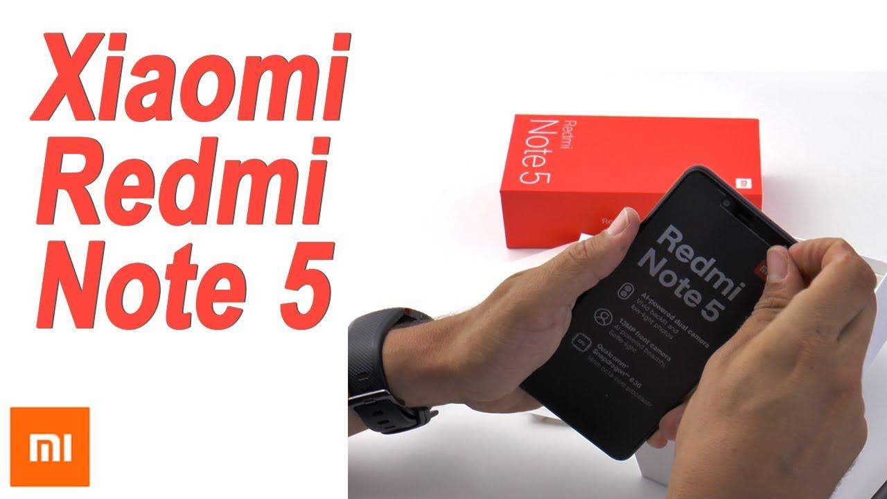 Xiaomi Redmi Note 5 Unboxing, tarjeta SIM y configuración inicial ...