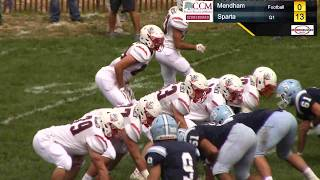 HD Football Broadcast: Sparta over Mendham 40-0