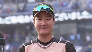 2019年4月21日 北海道日本ハム・渡邉選手ヒーローインタビュー