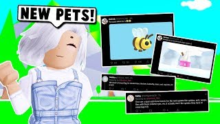 NEW PETS LEAKED COMING SOON ON ADOPT ME! + NEW LEMONADE STAND UPDATE! (Roblox)
