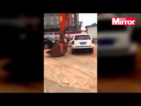 You may want to think twice about parking illegally after watching this....