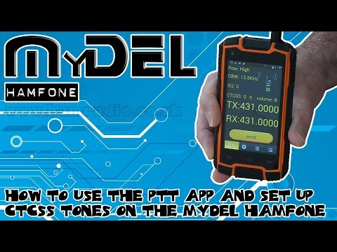 How to Use the PTT App and Set Up CTCSS Tones on the MyDEL Hamfone at ML&S