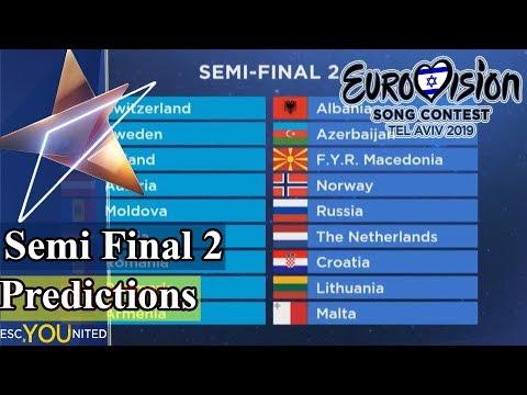 Eurovision 2019: Semi-Final 2 Qualifier Predictions