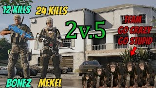 (2v5) Super Sweaty 2v5! (24 Kills) Contains *RAGE* - Rainbow Six Siege