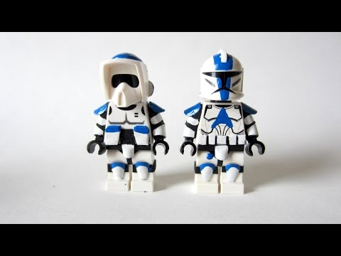 Painting Star Wars LEGO: 501st Figures - New Paint Experimen