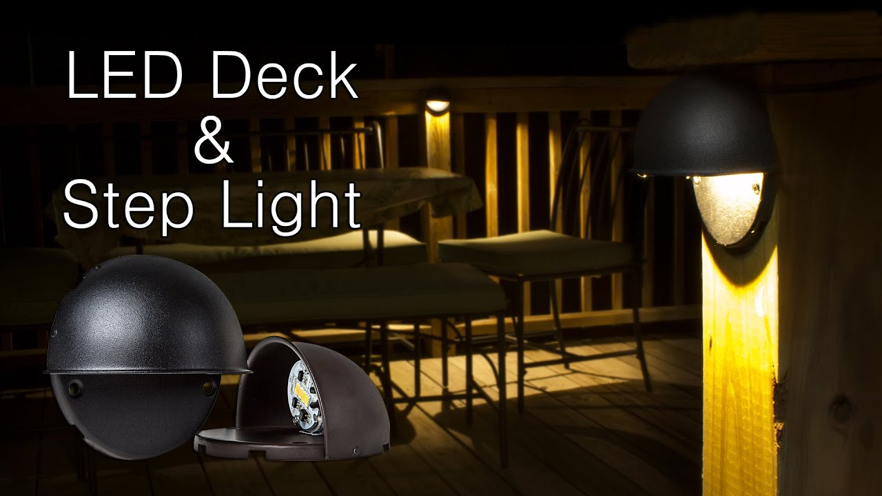 led deck and stair lighting youtube. Black Bedroom Furniture Sets. Home Design Ideas