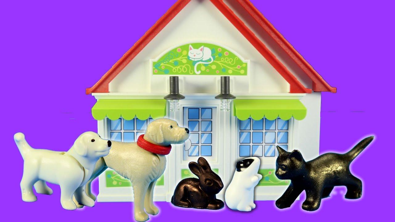 playmobil city animal life pet shop building set build