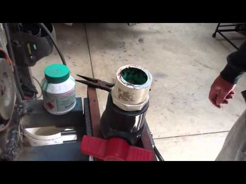 How to remove glued pvc pipe. no special tools