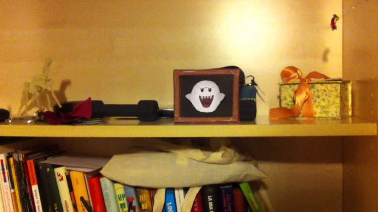 Papercraft - Boo ( from super mario ) always looking you!!! - YouTube
