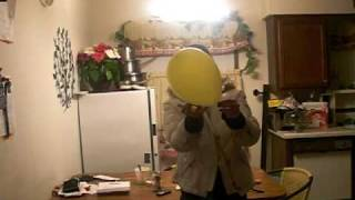 Burning a balloon?