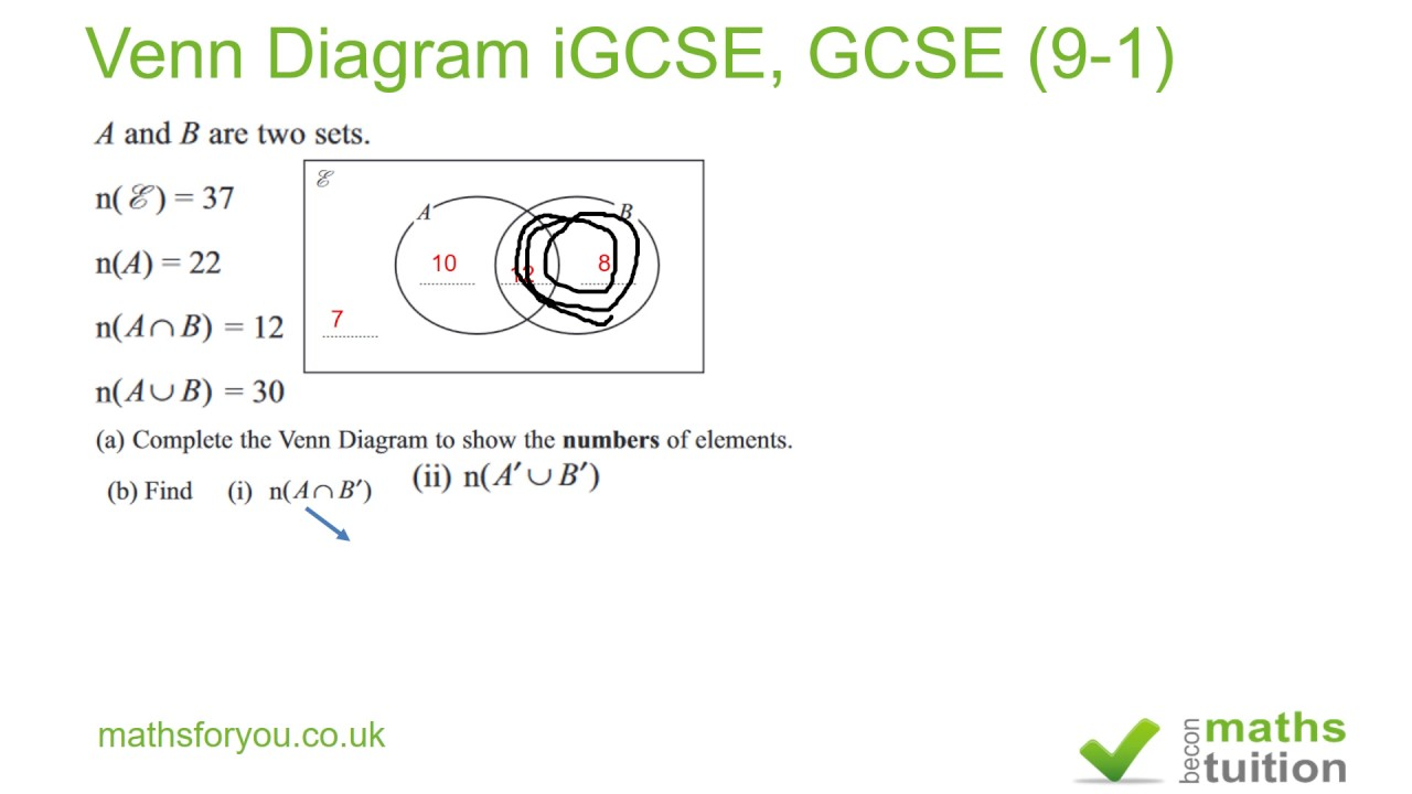 Venn diagram igcse gcse 9 1 youtube venn diagram igcse gcse 9 1 pooptronica Gallery