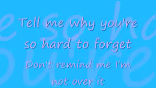 Repeat youtube video A Little Too Not Over You by David Archuleta with lyrics