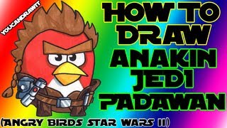 How To Draw Anakin Skywalker Jedi Padawan from Angry Birds Star Wars 2 ✎ YouCanDrawIt ツ 1080p HD