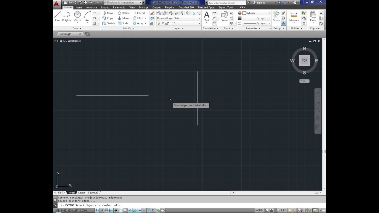 How To Extend A Line In Autocad