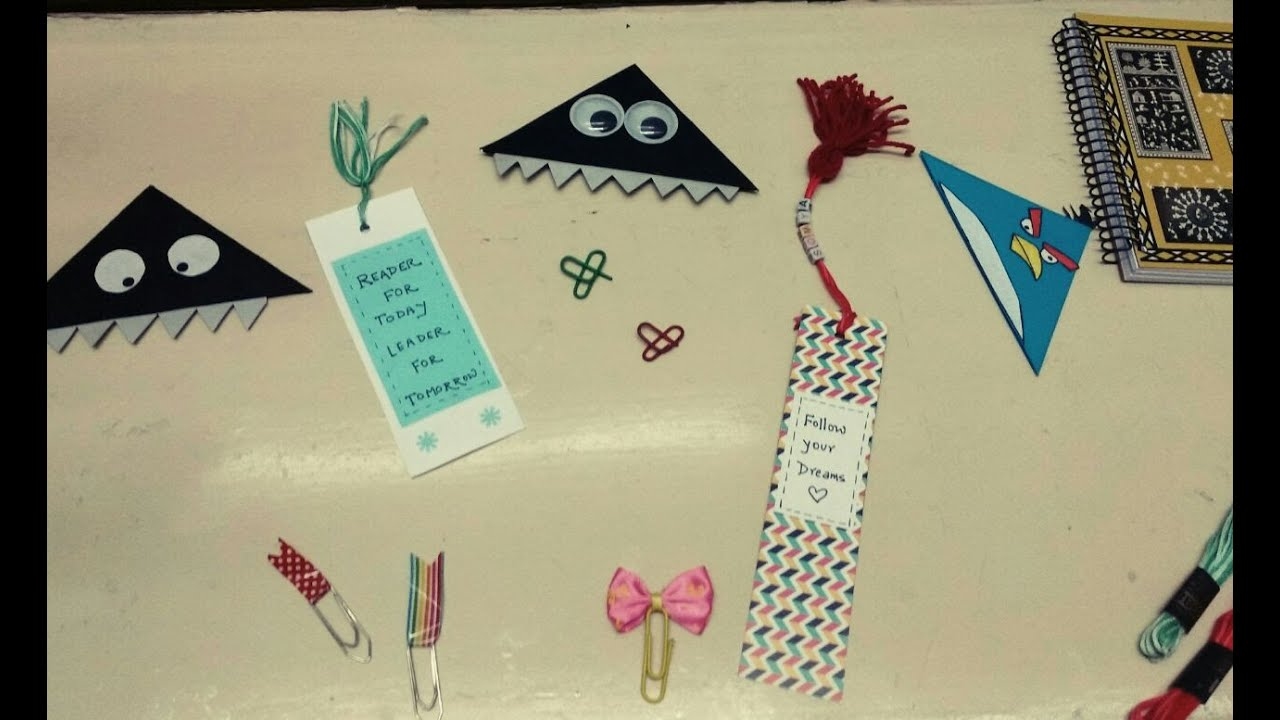 Diy easy bookmarks ideas youtube for Easy bookmark ideas