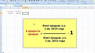 Аналіз продажу в MS Excel: динаміка зростання загальних продажів компанії
