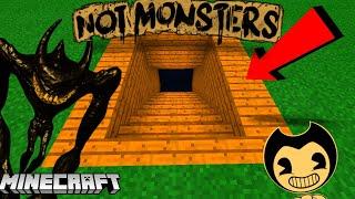 Minecraft : WE FOUND BEAST BENDY'S SECRET BASE! (BATIM Minecraft)