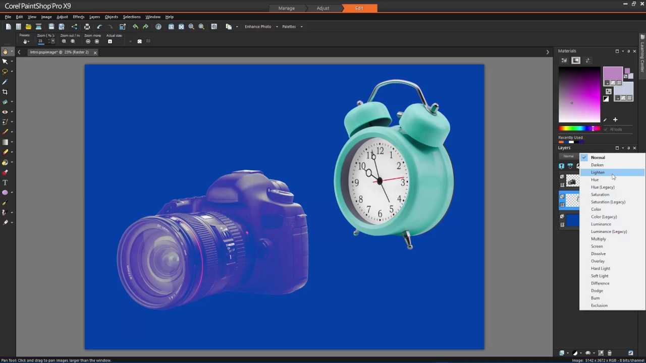 Using layer blend modes in PaintShop Pro - YouTube