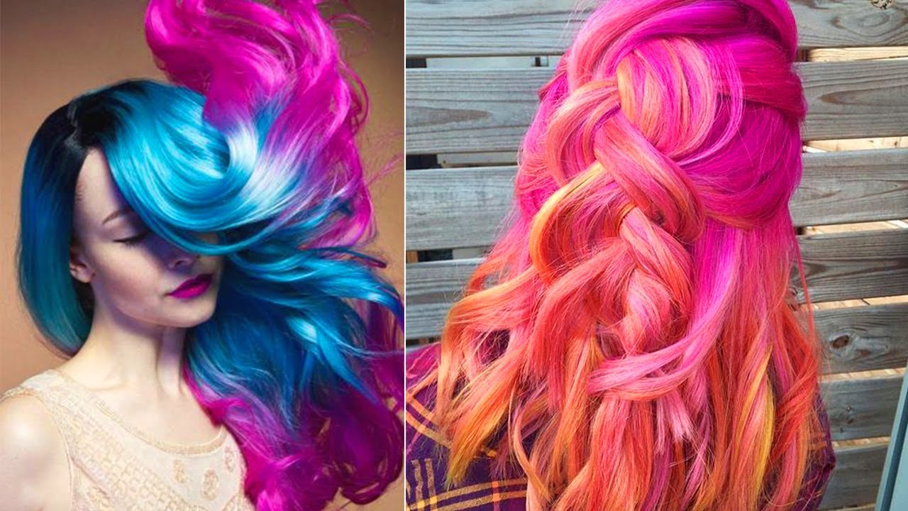 Best Hair Color Transformations 2017 | Rainbow Hair ...