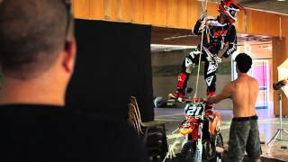 BTS - INDOOR EXTREME Photography, freestyle fire tricks With KTM Husaberg