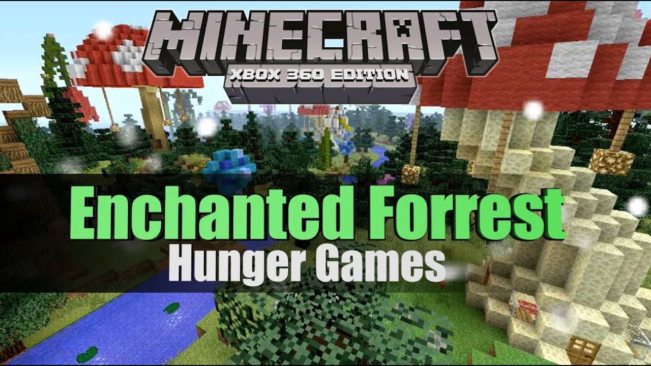 Xbox 360 Hunger Games : Minecraft xbox enchanted forest trailer hunger