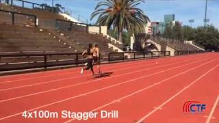 4x100m Relay Stagger Drill