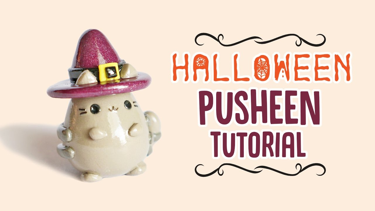 99b399c2a1ebcb Halloween Pusheen Polymer Clay Tutorial - YouTube