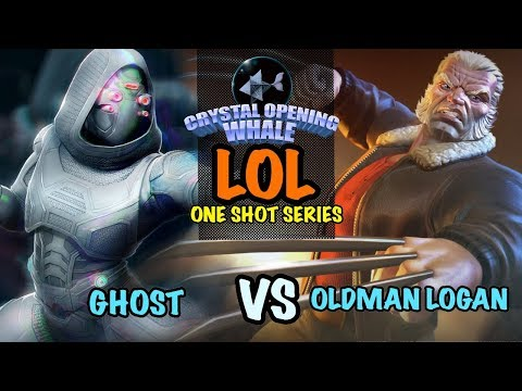 LOL One Shot Ghost Vs Old Man(Balls) Logan- Insane Damage-Marvel Contest of Champions