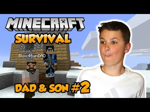 We Finally Found Some Iron ! | Let's Play Dad & Son Minecraft Multiplayer Survival 1.12