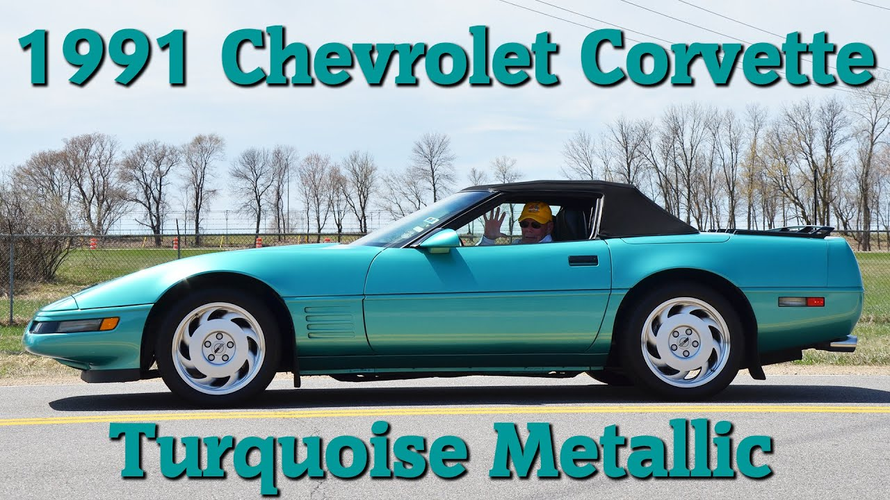 1991 Chevrolet Corvette Turquoise Metallic