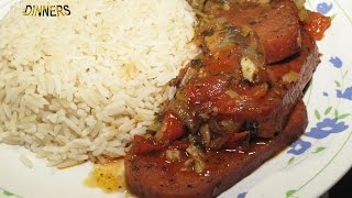 SPAM EASY MEAL DINNER IDEA (Practical home cooking method for any luncheon meat recipe)