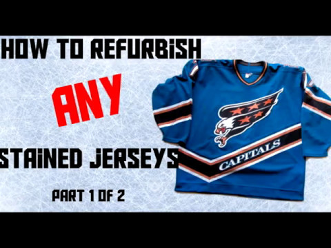 HOW TO REFURBISH STAINED HOCKEY JERSEYS PART 1 - YouTube 66727ccfb21