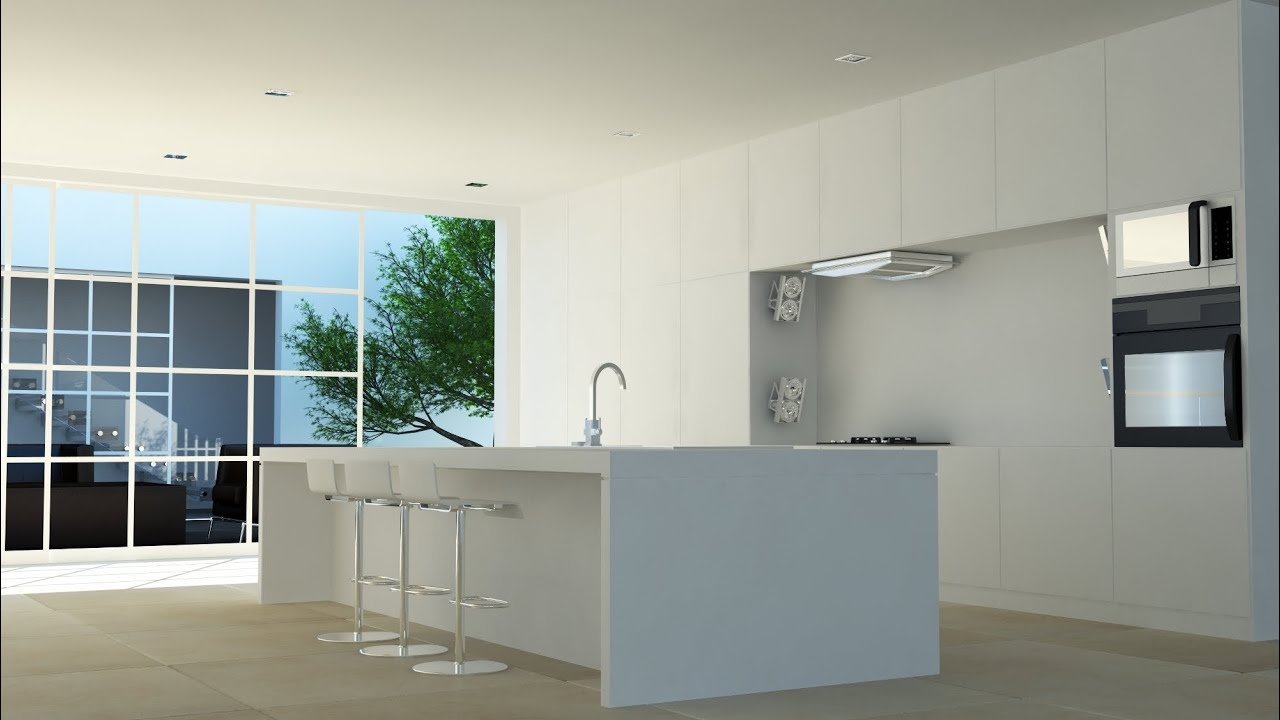 İnterior Scene Rendering With Vray Material Editing (kitchen) 3ds Max    YouTube