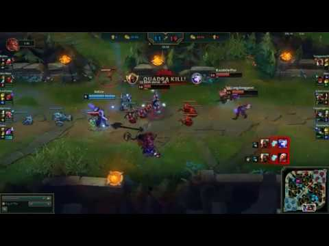 ZED PENTAKILL THE OTHER TEAM LEFT THE GAME AFTER THIS
