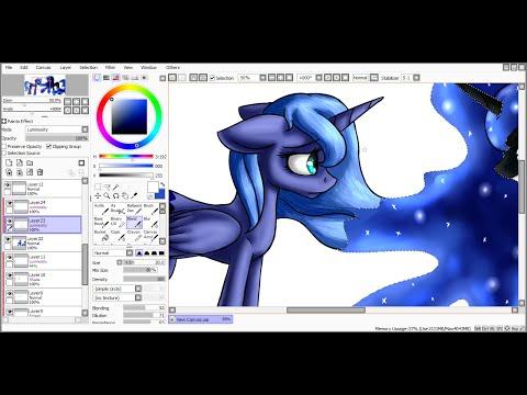 [SpeedPaint] Luna's dark side (My Little Pony: Friendship is Magic)