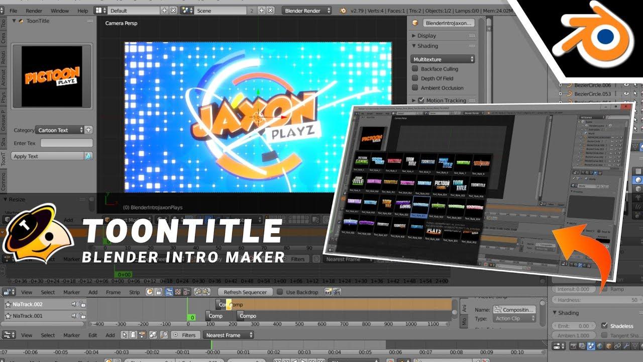 ToonTitle - Blender Intro Maker