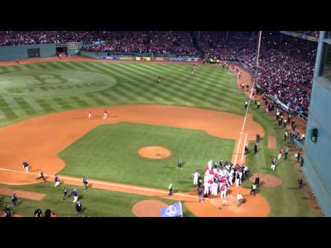 Red Sox Win 2013 World Series. The Final Out And