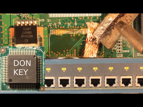 Repair of a Cisco 2960G switch with amber LED via RAM chip replacement (FAIL/defect)