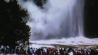 EXCL YELLOWSTONE: APPEARS OLD FAITHFUL HAS DEVELOPED ANOTHER VENT HOLE?