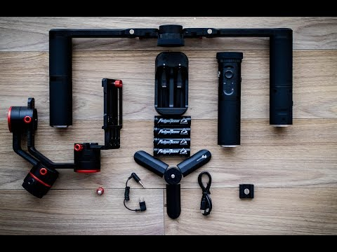 FeiyuTech A1000 Balancing tutorial test footage and gimbal unboxing English
