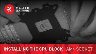 CPU water block installation - AMD AM4 Socket Motherboards