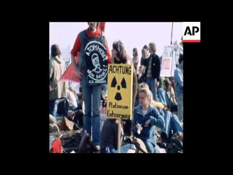 SYND 13 3 77 DEMONSTRATION AGAINST NUCLEAR DUMPING GROUND