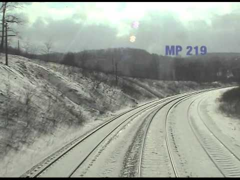 Amtrak Train 30 Cab Ride - Connellsville to Cumberland