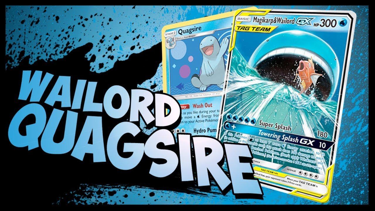 QUAGLORD! Magikarp Wailord GX / Quagsire PTCGO Gameplay ... Wailord And Quagsire