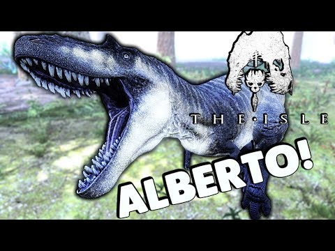 The Isle - PLAYING AS THE ALBERTOSAURUS! RUGOPS MODEL, NEW TRIKE ANIMS, NEW STEGO! ( Gameplay )