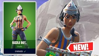 NEW SIZZLE SGT. Skin Gameplay in Fortnite!