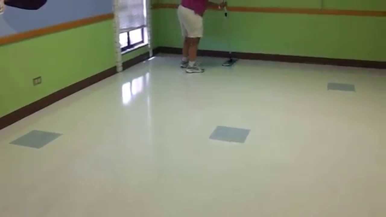 Floor Doctor Using The Microfiber Mop To Apply Wax Youtube