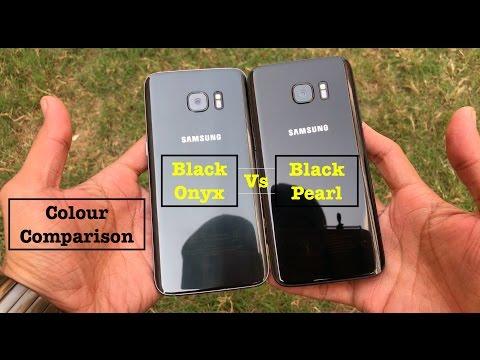 Galaxy S7 Edge Black Pearl Vs Black Onyx Colour Comparison